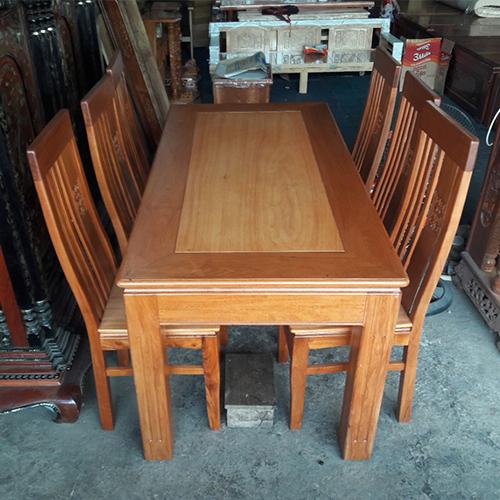 bàn ăn 6 ghế gỗ sồi nga cũ