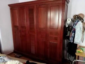 tủ quần áo gỗ xoan đào cũ