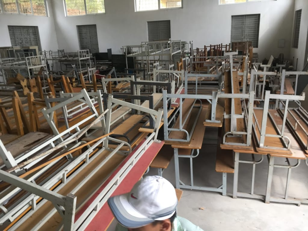 bàn ghế học sinh cũ hải phòng thanh lý