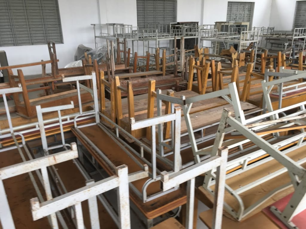 bàn ghế học sinh cũ hải phòng